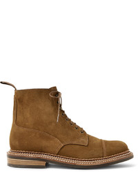 Cap toe triple welted suede boots medium 3941726