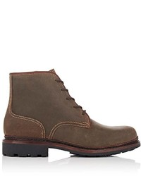 Cartujano Espana Waxed Suede Lace Up Boots