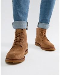 Polo Ralph Lauren Kieren Suede Boots In Tan
