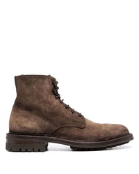 Officine Creative Lace Up Leather Ankle Boots
