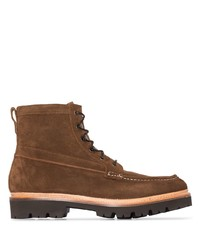 Grenson Rocco Suede Laceup Boots