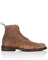 Barneys New York Suede Lace Up Ankle Boots