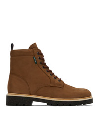 Ps By Paul Smith Tan Suede Fowler Boots