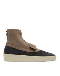 Fear Of God Taupe And Black Duck Boots