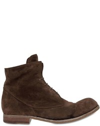 Washed suede lace up boots medium 6873777
