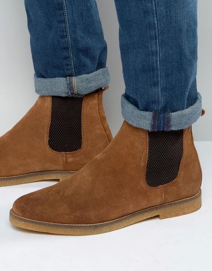Ferdinand Suede Chelsea Boots - Beige Base London zBvH2t