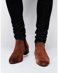 Asos Brand Chelsea Boots In Suede