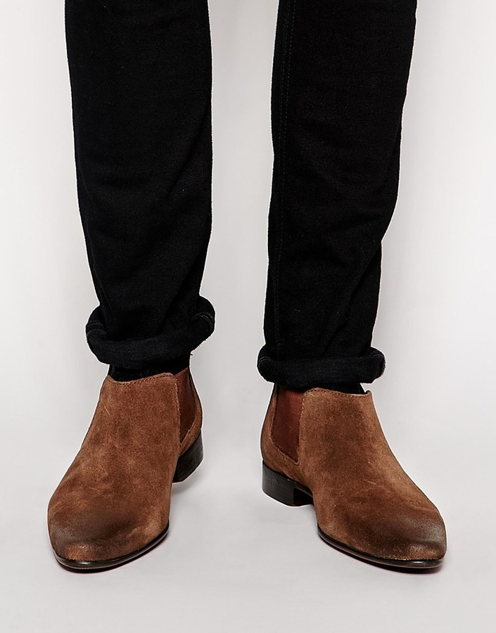 64a0d64a9bd $65, Asos Brand Chelsea Boots In Suede