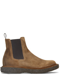 Officine Creative Brown Suede Bullet 2 Chelsea Boots