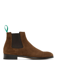 Paul Smith Brown Suede Crown Chelsea Boots