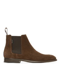 Ps By Paul Smith Brown Suede Gerald Chelsea Boots
