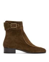 Saint Laurent Brown Suede Miles D Boots