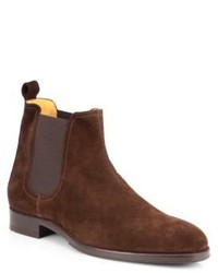 Saks Fifth Avenue Collection Suede Chelsea Boots