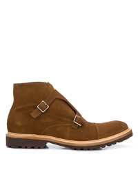 Eleventy Monk Strap Ankle Boots