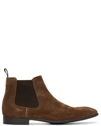 Paul Smith Ps By Tan Suede Falconer Chelsea Boots
