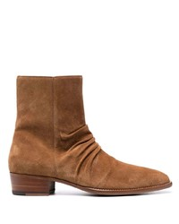 Amiri Ruched Ankle Boots