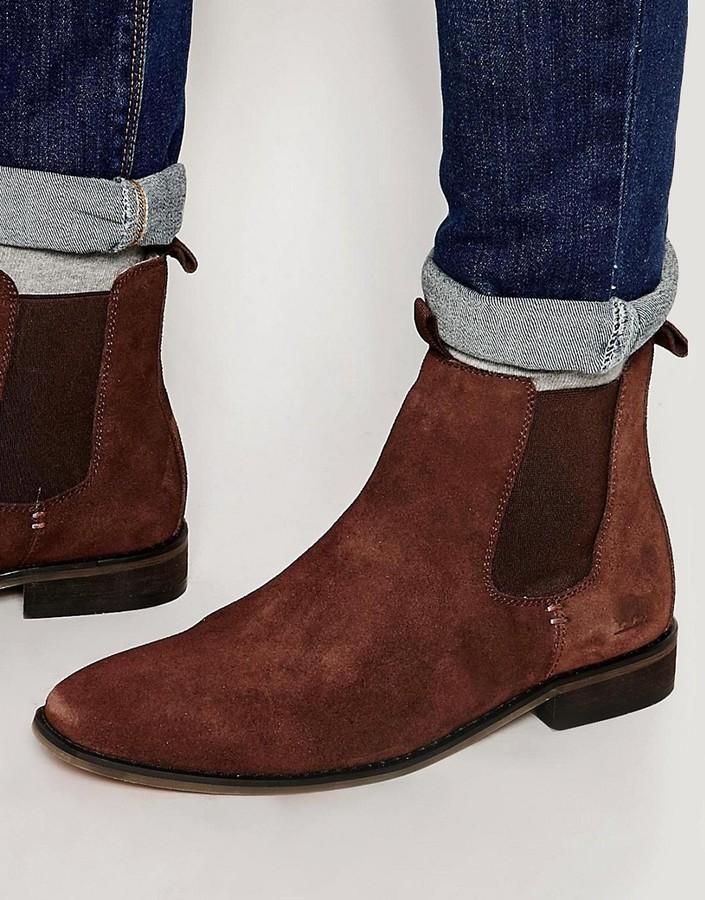 Bellfield Suede Chelsea Boots, $45