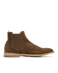 Officine Creative Tan Steple 5 Chelsea Boots