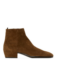 Saint Laurent Tan Suede Caleb Boots