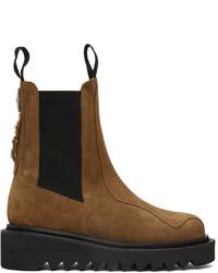 Toga Virilis Tan Suede Chelsea Boots