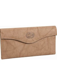 Buxton heiress organizer clutch taupe medium 255965