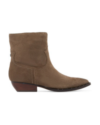Sam Edelman Ava Studded Embroidered Suede Ankle Boots