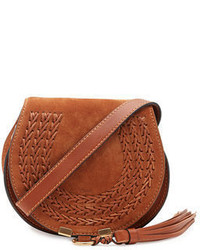 Chloe chloe marcie small suede crossbody bag medium 1246844
