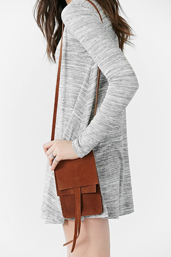 6b6985a7 ... Brown Suede Crossbody Bags Urban Outfitters Ecote Suede Northsouth  Crossbody Bag ...