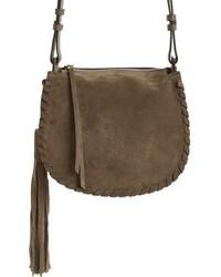 Mori suede crossbody bag grey medium 1027021