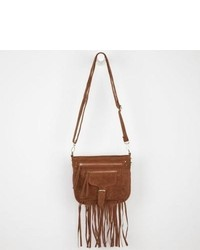 T-Shirt & Jeans Fringe Crossbody Bag Brown One Size For 229075400