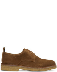 AMI Alexandre Mattiussi Brown Suede Derbies