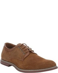 Joe's Jeans Tan Leather Trimmed Perforated Suede Vests Lace Up Oxfords