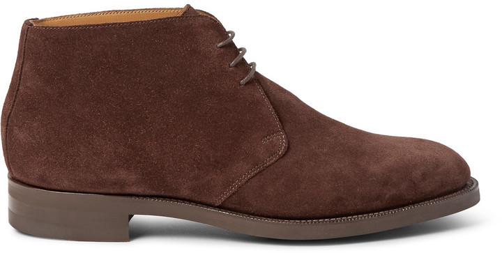 Edward Green Banbury Suede Chukka Boots | Where to buy & how to wear