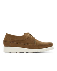 Padmore and Barnes Brown Suede Willow Derbys