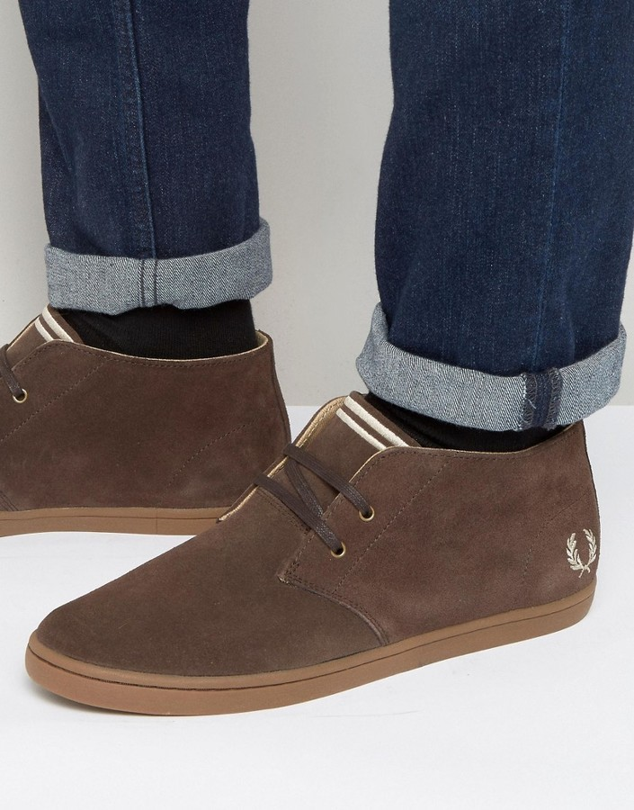 Nouveaux produits 4eeda ff385 $110, Fred Perry Byron Mid Suede Chukka Boots
