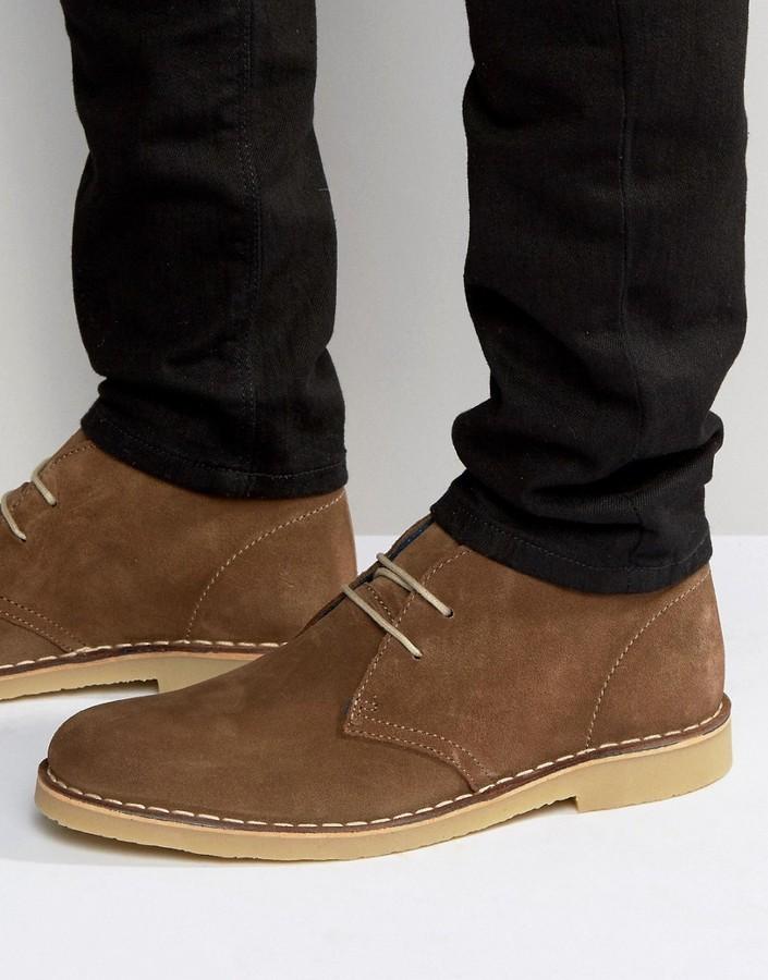 3f35d4957fe $114, Dune Calabassas Suede Chukka Boots
