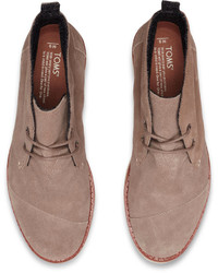 Toms Desert Taupe Embossed Suede Mateo Chukka Boots   Where to buy ...