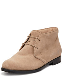Tod's Flat Desert Ankle Bootie Brown
