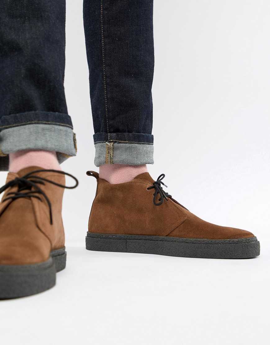 Fred Perry Hawley Mid Suede Boots In
