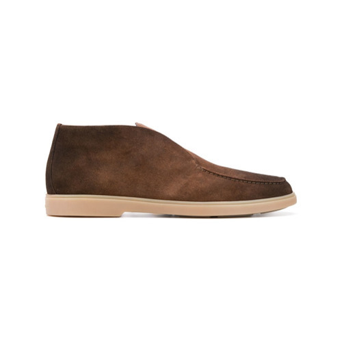 Santoni Low Top Suede Boots