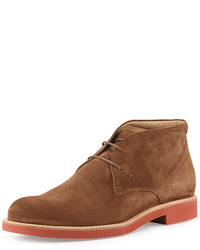 Rubber sole suede chukka boot light brown medium 666387