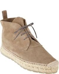 Balenciaga Suede Espadrille Chukka Boots
