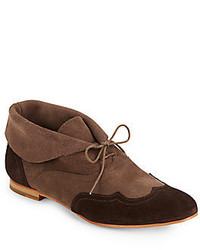Wolverine Bettula Two Tone Suede Wingtip Chukka Boots