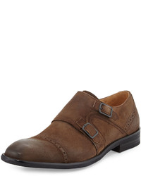 Beat the system monk strap loafer tobacco medium 735757