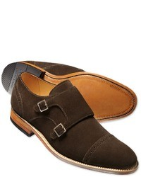 Charles Tyrwhitt Brown Francis Double Buckle Monk Shoes