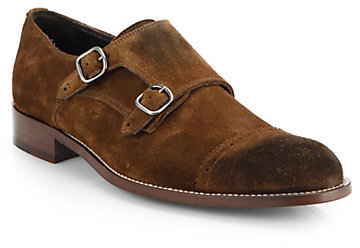 ... To Boot New York Suede Cap Toe Double Monk Strap Shoes f81cc6d57ae