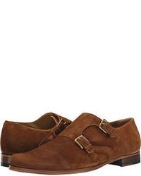 Billy Reid Suede Double Monk Strap Monkstrap Shoes