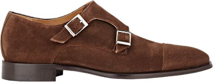 0b7c657e40f6 Suede Double Monk Strap Shoes Brown. Brown Suede Double Monks by Barneys  New York