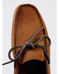 Topman Monaco Driver Tan Suede Driving Loafers