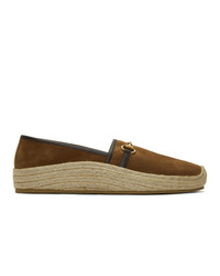 Gucci Brown Suede Horsebit Espadrilles